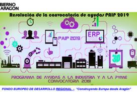 Resolución de la convocatoria 2019 del Programa de Ayudas a la Industria y a la PYME (PAIP2019)
