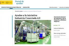 Nueva Convocatoria 2020 de Ayudas a la iniciativa Industria Conectada 4.0