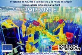 Convocatoria extraordinaria 2020 del Programa de Ayudas a la Industria y a la PYME (PAIP 2020E)