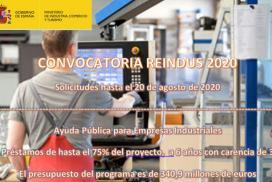 REINDUS- Nueva Convocatoria de apoyo financiero a la inversión industrial en el marco de la política pública de reindustrialización y fortalecimiento de la competitividad industrial en el año 2020.