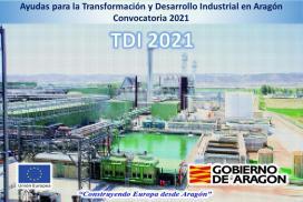 Convocatoria de ayudas para la Transformación y Desarrollo Industrial en Aragón.  TDI 2021